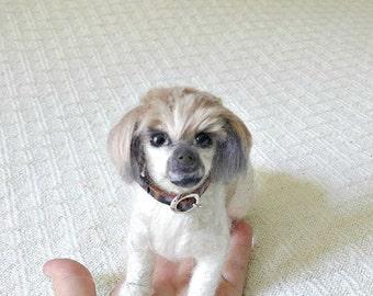Custom Portrait / Your Pet in Miniature / Cute / Handmade Poseable Art Sculpture/  Personalized Pet Lover gift