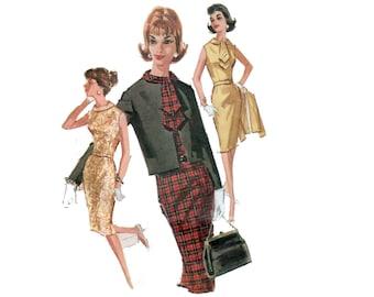 50s Wiggle Dress pattern Hourglass Dress pattern Fitted Dress vintage pattern 32-25-34 McCalls 6477