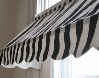 """14 1/2"""" High and 18 to 70"""" Wide Custom Made Indoor Awning (Choose from Available Fabrics or Provide Your Own Fabric)"""