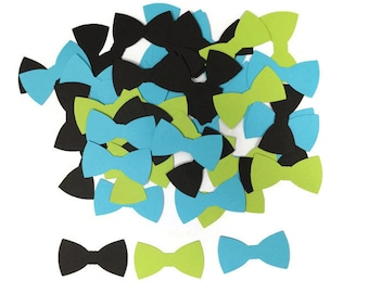 100 Bow tie confetti, baby shower, lil man birthday, bow tie table decor, little man party,  little man shower,