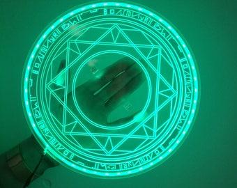 LED Strip Battery Powered USB Dr Doctor Strange Marvel Magic Rings Spell Casting Glyphs Rune Plastic Cosplay Replica Prop Accessory