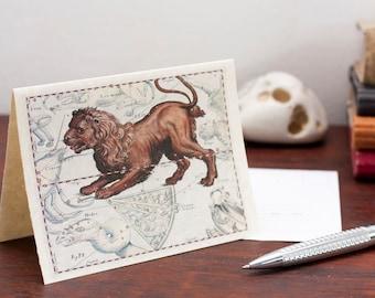 Zodiac Sign Leo - Lion Constellation Greeting Card