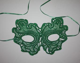 Green Lace Mask