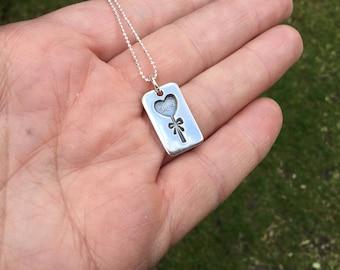 Love heart pendant, love heart , small love pendant, gift for girlfriend, gift for wife, anniversary gift, gift for mum, love pendant