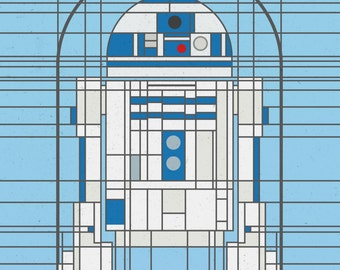 R2-D2 Star Wars-Inspired Deco Droid Print