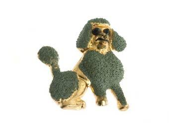 Grey Poodle Pin