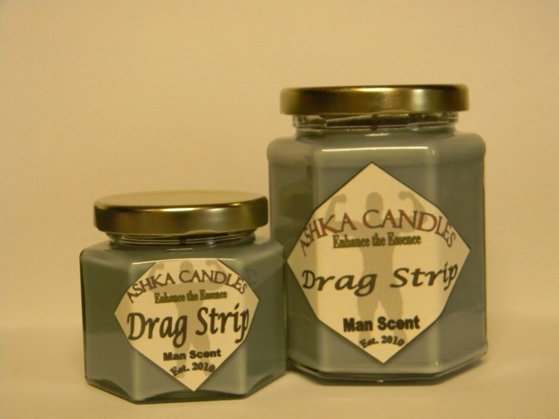 Small Drag Strip Soy Wax Candle Man Scents 4oz Jars Man