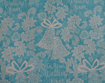 Wedding Shower Wrapping Paper Vintage 1970's
