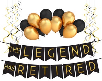"Retirement Decoration Pack - ""The Legend Has Retired"" - Retirement Party Supplies, Gifts and Decorations by Sterling James Company"