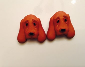 Earrings Mix and Match Collection Matching Set Brown Hound Dog Dangle or Post Earring Style