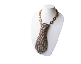 MELISSA tie candee necktie necklace feminine tie honeycomb ladies necktie amber womens necktie trending statement necklace corbata collar