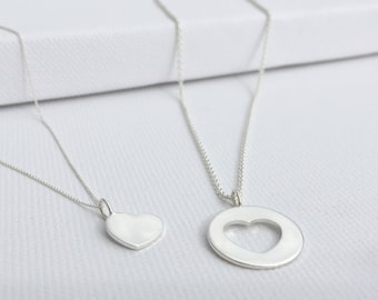 Hearts necklace in a set