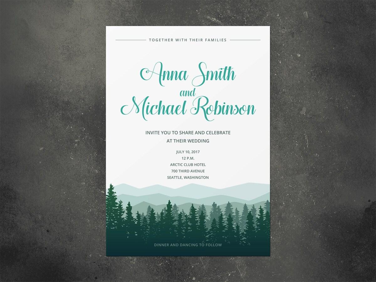 Hochzeitseinladung rustikale Einladung Hochzeit Einladung