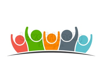 Clip Art Group of People Teamwork Collaboration Success and Family Social Network