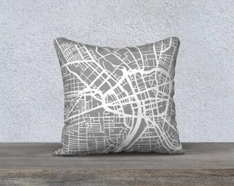 Rochester Map Pillow Cover