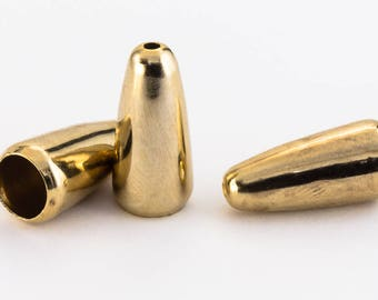 16mm Gold Rounded Bead Cone #COA002