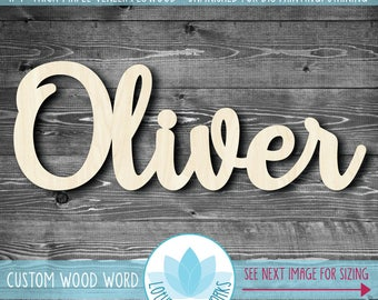 Large Custom Wooden Word Sign, Wall Galler Word Decor, Personalized Home Decor, Laser Cut Wood Word, Photography Prop, Nursery Name Sign