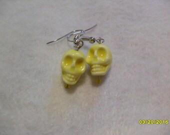 Yellow Skull Earrings