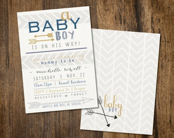 Arrow Baby Shower Invitation