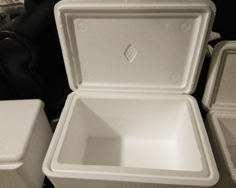 Styrofoam Medium Sized Cooler Decorated any way you want. FREE Shipping in US