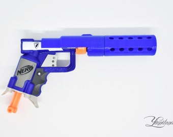 Custom Nerf Jolt Silencer Mod Kit (Blue) | Steampunk gun | Custom Nerf Gun