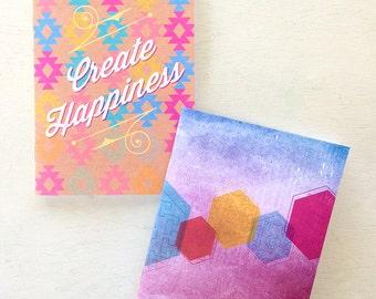 Geo Pocket Note Book, Travel Journal, Road trip journal, mothers day gift, graduation gift, Gift for Grandma, gift for mom, Teacher Gift