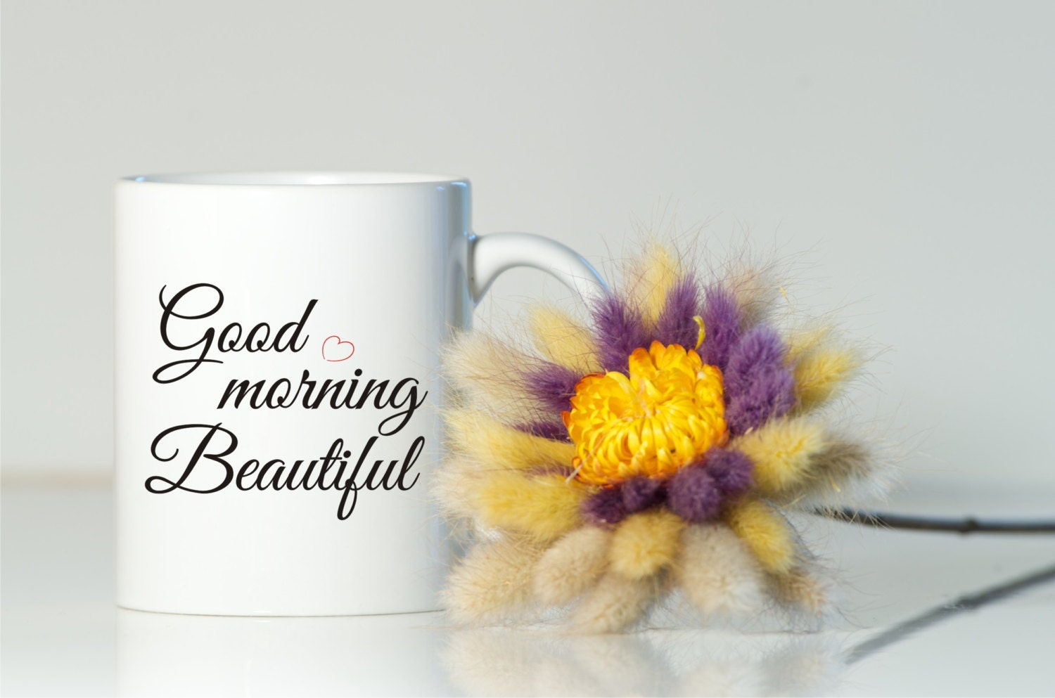 Good morning beautiful mug gift for her gift for girlfriend zoom negle Images