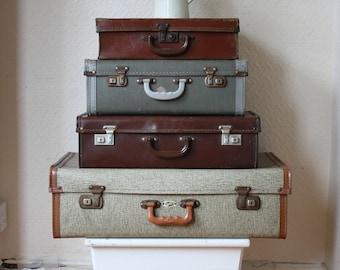 Vintage British Made Pioneer Brown Weekend Case