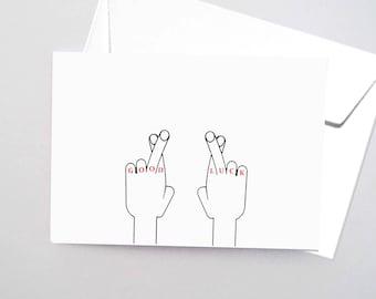 """Card """"Good luck"""""""