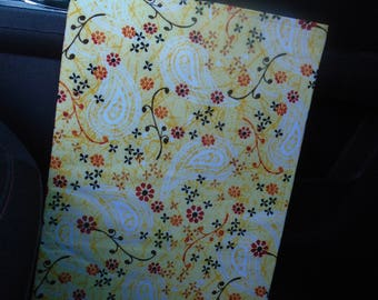 Car Trash bag - yellow orange floral