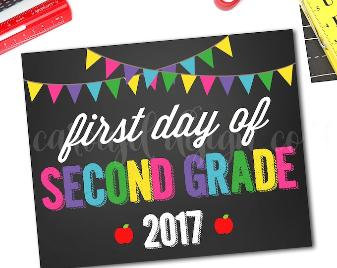 First Day Of School Sign, Back To School Sign, Chalkboard School Sign, School Photo Prop, 1st Day Of Preschool Sign, DIY Printable