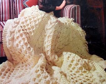 A Bouquet of Bernat Afghans ,  Afghan Crochet Patterns , Afghan Knitting Patterns, Circa 1968, Bernat Book 160