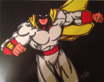 Space Ghost Comic Style Marker Print 11 x 14 in