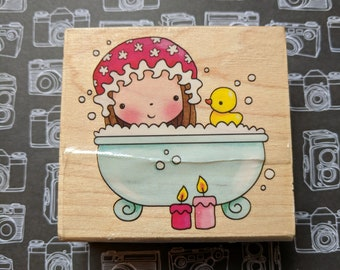 Pampered Mimi Wood Mounted Rubber Stamp