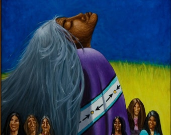 She Dreams For Many-Native American Series-Honoring Mother, LIMITED Edition artist Schar Freeman 2/25