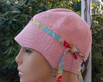 Chemo Hat Cancer Cap Hair Loss Hat Cotton Reversible Made in the USA  MEDIUM
