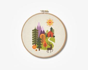 In the Forest Cross Stitch Pattern (Digital Format - PDF)