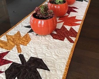 Fall Table Runner kit with the book The Trendy Table ANK 324 by Heather Peterson of Ankas Treasures