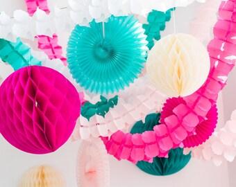 Cream Honeycomb Ball 14 inch | Honeycomb Decoration