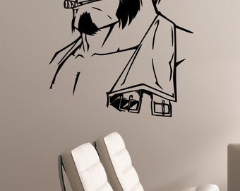 Hellboy Wall Sticker Vinyl Decal Comics Superhero Art Decorations for Home Housewares Bedroom Playroom Kids Boys Room Decor hell2