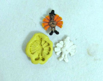 Turkey silicone mold,Thanksgiving Turkey, Silicone mold,push mold, food mold. craft mold, soap mold,clay mold, # 22 s