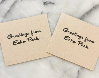 Greetings From Echo Park, set of 4 cards with envelopes