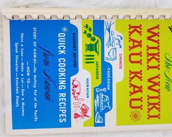 Vintage New Wiki Wiki Kau Kau Quick Cooking Recipes from Hawaii
