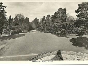 Berystede Hotel RPPC Ascot Unused 30's 40's Postcard