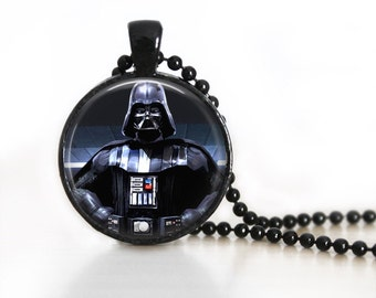 Star Wars Inspired Darth Vader Glass Pendant/Necklace/Keychain