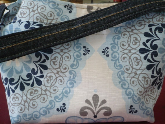 Baby Blue Abstract Bucket-Style Purse Diaper Bag