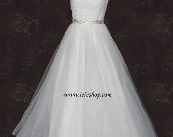 Fairytale Princess Strapless Sweetheart Tulle A-line Wedding Gown