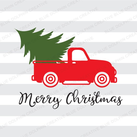 Vintage Truck Christmas tree delivery SVG dxf png pdf jpg ai (570 x 570 Pixel)