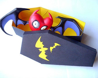 Coffin box with bats