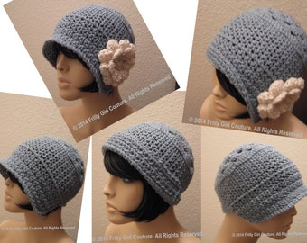 Crochet Cloche Bonnet Pattern Pdf, Instant Download, Gatsby Hat Pattern.